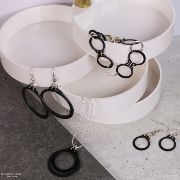 black and silver jewellery collection