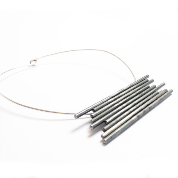 Factory Floor Jewels Steel Rods on a white background