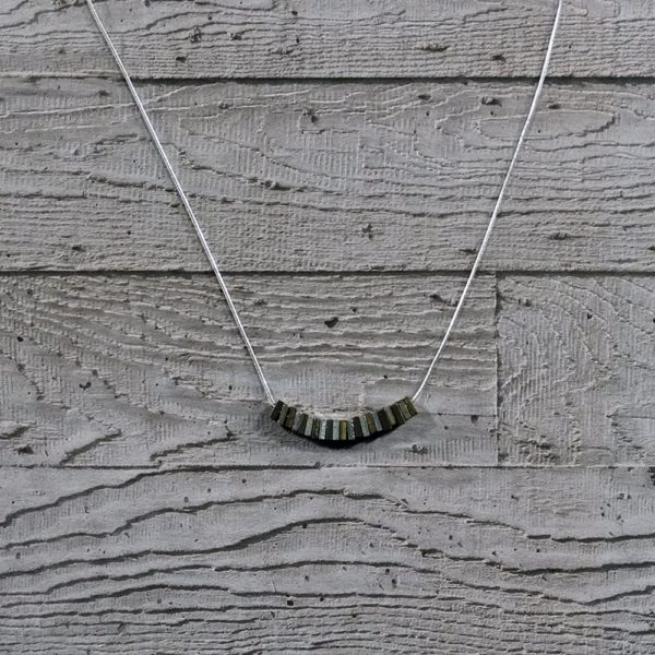Brass and steel necklace Factory Floor Jewels Nuts Collection Delicate necklace