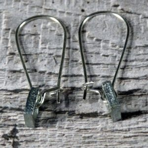 Steel Nuts Earrings by Factory Floor Jewels