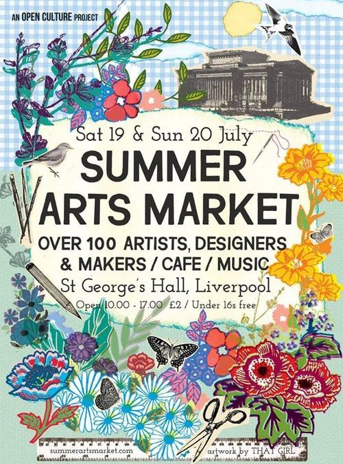 SUMMER ARTS MARKET ST GEORGES' HALL LIVERPOOL