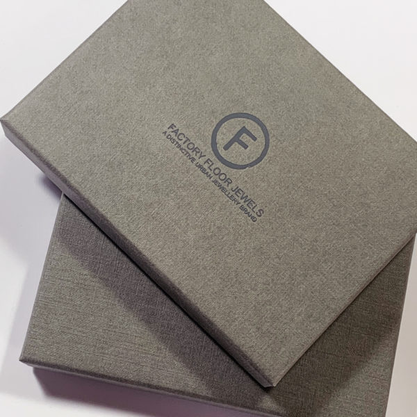 factory floor jewels gift boxes
