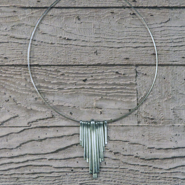 art deco statement necklace by factory floor jewels