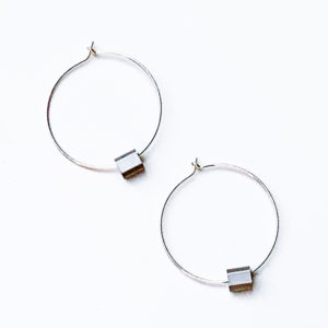 Sterling Silver Alu Hoop Earrings by factory floor jewels