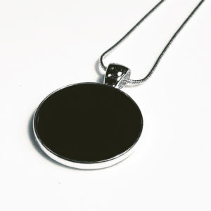Black concrete pendant by factory floor jewels