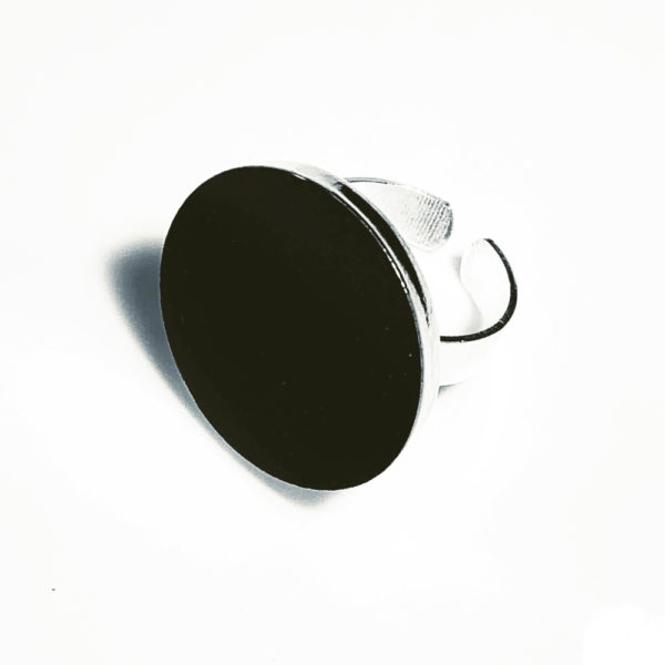 Black and Silver concrete ring