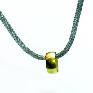 one off pendant steel and brass
