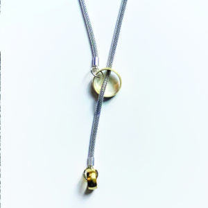 Factory floor jewels brass ring lariat